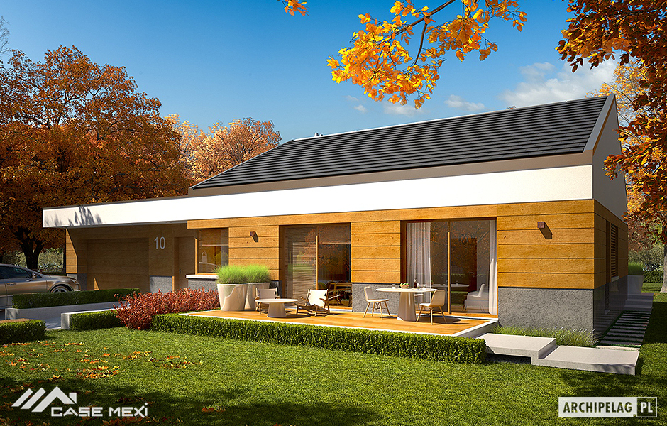 Light steel structure houses and bungalows Metal frame home plans